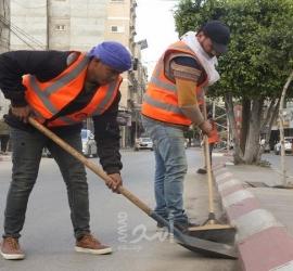 بلدية خانيونس تنهي مشروع تأهيل شارع 105 بقيزان النجار