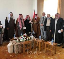 جمعية المجلس العلمي تستقبل عميد عائلة شبير بمحافظة خان يونس