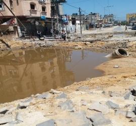 بلدية غزة: نقص المياه ناجم عن قصف طائرات الاحتلال لخط رئيس شمال المدينة