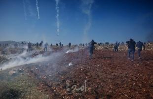 إصابات بالرصاص والاختناق خلال مواجهات مع قوات الاحتلال في الضفة