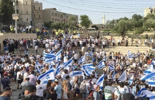 القدس: إنطلاق مسيرة للمستوطنينقبالة باب الخليل- فيديو