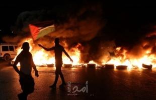 إصابة 10مواطنين جراء قمع قوات الاحتلال مسيرة دعم وإسناد للأسرى جنوب نابلس