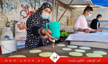 """""""القطايف"""".. حلوى رمضان الشهيرة تشتكي ضعف الإقبال عليها بسبب """"كورونا"""" في غزة - صور"""