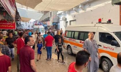 شاهد - اللحظات الأولى لانفـجار سوق الزاوية بغزة